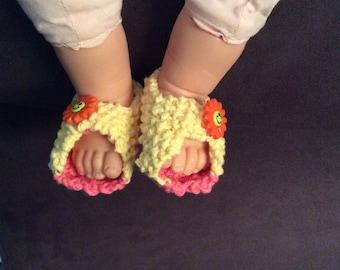 Baby Booties Peep Toes