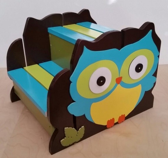 Woodland Owl Step Stool Toddler Step Stool By
