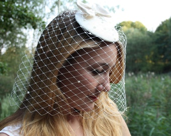 Fascinators with veil for the wedding