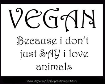 Vegan fridge magnet 5in x 7in
