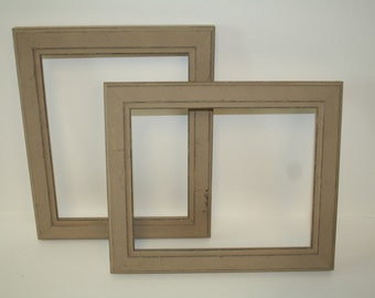 Set of 2 Distressed Picture Frames - #111