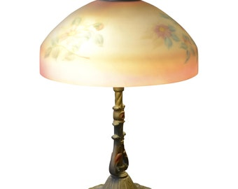 Reverse Painted Table Lamp ca. 1930's