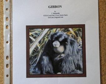 GIBBON Cross Stitch Chart