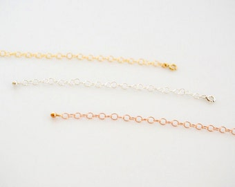 Extensions/ Adjustable Chain Extender/ Add-On Item/ 14K Gold Fill Extender/ Silver Extender/ Rose Gold Fill Extender