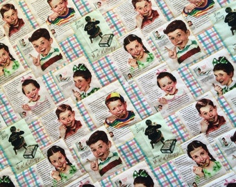 SALE!! Vintage Ads Baby Quilt