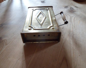 REDUCED Brass foot warmer for church or carriage antique brass box French vintage decor fireside decor country house decor