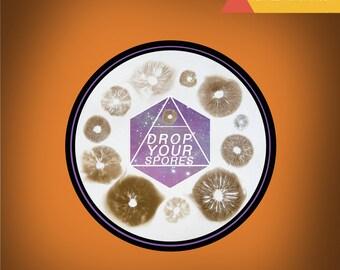 Drop Spores Sticker 2x2