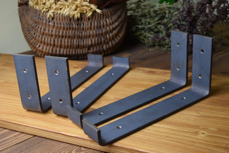 DIY Shelf Bracket Hangers Lip Metal Shelve Mounting Angle