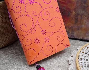 Adorable Little Journal - Orange, Red, Glitter!