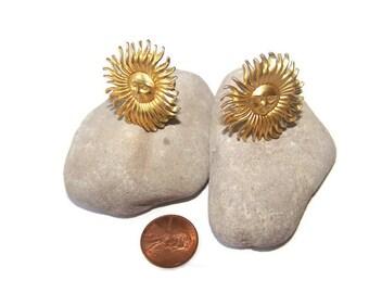 Vintage Sun earrings Sunburst Clip Earrings Fun Jewelry Gift for her