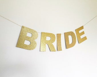 Bride Banner • Custom Banner • Bridal Shower • Wedding • Bachelorette • Birthday • Baby Shower • Engagement • Photo Prop