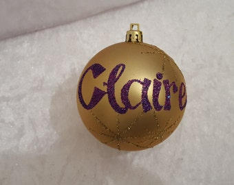 Christmas Personalised Baubles - gold