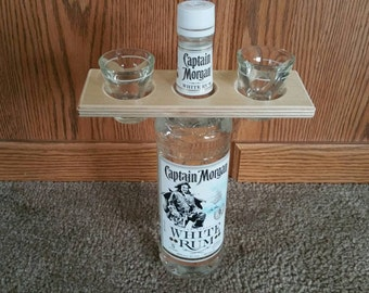 Shotglass and bottle holder