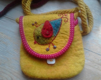 little felted bag for children