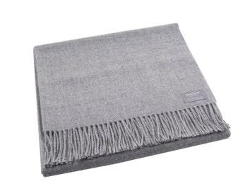 Maloca 100% Baby Alpaca Oversized scarf-Light Grey