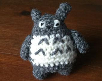 Small Grey Totoro Amigurumi