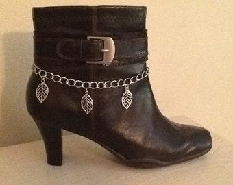 Boot Bracelet/ Chain of Leaves