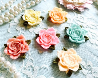 Shabby Chic Flowers/Mix Resin Flowers Shabby Collection-Cabachon Flowers/FM0002/Great for Jewely,Scrapbook,Card,Altered Projects