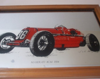 Wall Art Mirror:  Maserati Transfer