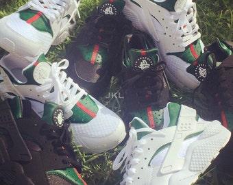 Junior Nike Huarache Gucci Huarache, Guccihuarache, Gucci Huarache customs, Gucci style Huarache, Nike Gucci, Gucci Nike Huarache, Junior