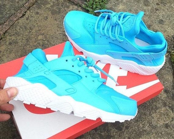Baby Blue Nike Huarache uni customs by JKLcustoms on Etsy