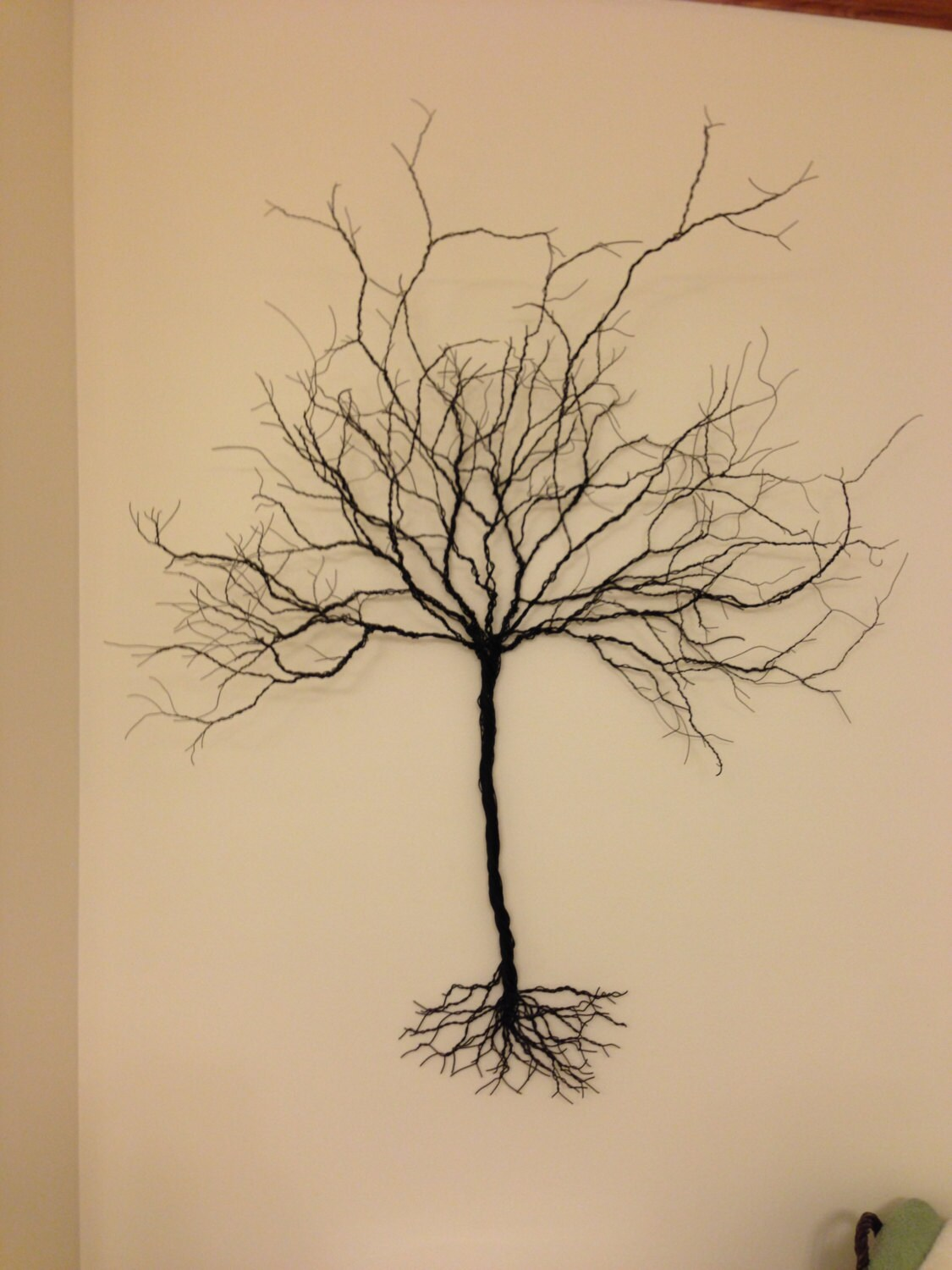 how to make a wire tree on a rock