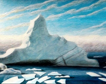 "Disappearing Arctic. Last of the Icebergs. ""Vanishing"""
