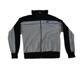 Vintage 90s Nike Gray Track Jacket Sz M