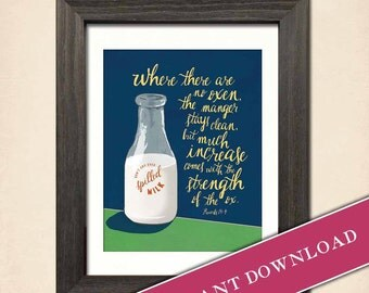 Spilled Milk (Bold) Printable Download by Inklings of an Artist