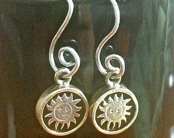 Reversible Moon and Sun Earrings