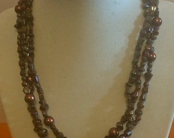 Earth Toned Wrapping Loop Necklace