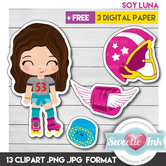 Soy Luna Kawaii Clipart Girl From Sweetieink On Etsy Studio