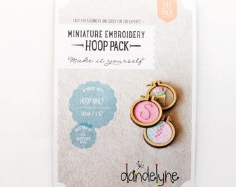 "DIY Mini Embroidery Hoops by Dandelyne- 3pk- 1.6""/4cm Hoops Only"