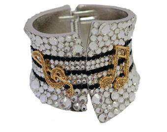 Musical Note Cuff Bracelet