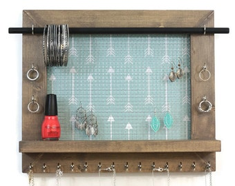 Jewelry Organizer - Boho Style Wall Hanging Jewelry Display - Jewelry Holders