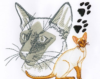 SIAMESE - Machine Embroidery Design