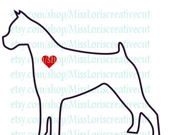 Boxer Terrier love  dog Love SVG   cut file  t-shirts  Dog car decalscrapbook vinyl decal wood sign cricut cameo Commercial use