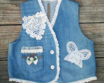 Girls Denim Vest (size 4)