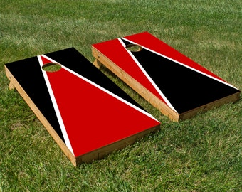Cornhole Board Decals with Utah Utes Colors (Black and Red)