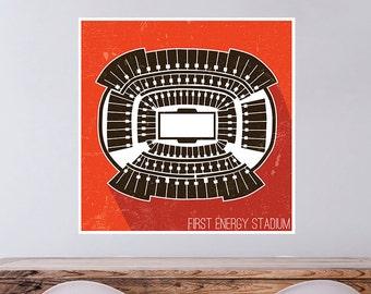 Cleveland Football (First Energy) Stadium Poster