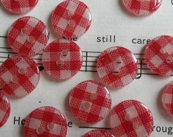 2 hole Gingham Button 13mm x 50 pieces