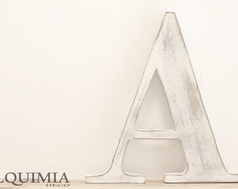 Decorative wooden letter