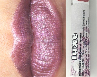 Purple Lipstick, pink lip color, mineral cosmetics, floral, vampy,  ships for free (LUXE)