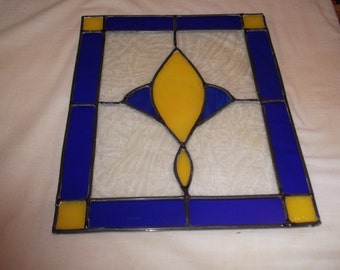 14 x 12  clear textured, royal blue and gold