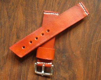Leather watch strap.handmade.
