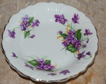 Vintage Floral China Jewlery Dish