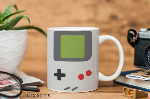 Gameboy Mug, Video Game Mug, Gamer Mug, Gamer Gifts, Nerd Mug, Nerd Gifts, Geek Mug, Geek Gifts, Boyfriend Mug, Video Game Gifts (a3511)