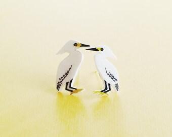 SALE - Snowy Egret studs