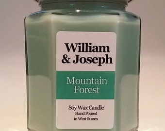 Mountain Forest Scented Soy Candle, Forest Candle, Pine Candle, Scented Candles