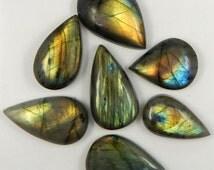 Single Natural Labradorite Cabochon, Flashy Labradorite Stone, Loose Stone, Fire Labradorite Gem, Semi Precious Gemstone A-5642